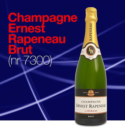 Vår populära Champagne Ernest Rapeneau har fått en ny etikett